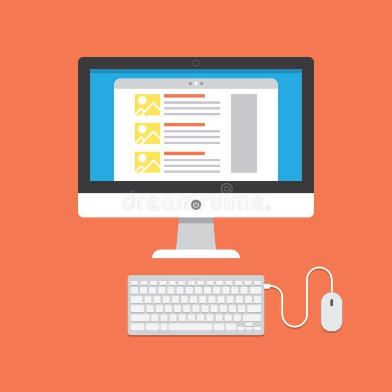 Download Blogging concept stock photo. Image of development, computer - 50510372