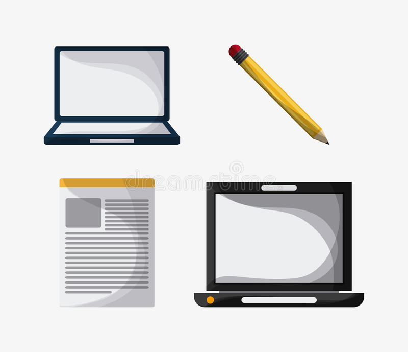 Blogging design. Media icon. Colorful illustration , vector royalty free illustration