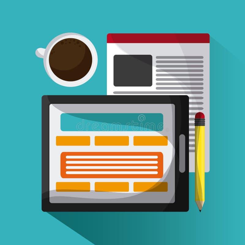 Blogging design. Media icon. Colorful illustration , vector stock illustration
