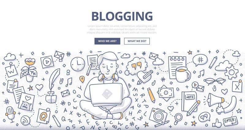 Blogging Doodle pojęcie ilustracji