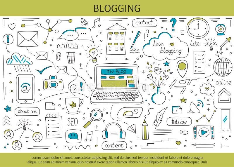 Blogging i ogólnospołeczni środki ilustracji