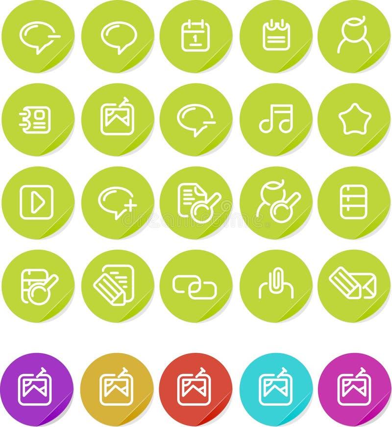 blogging inställda etiketter för symbolsinternet plain vektor illustrationer