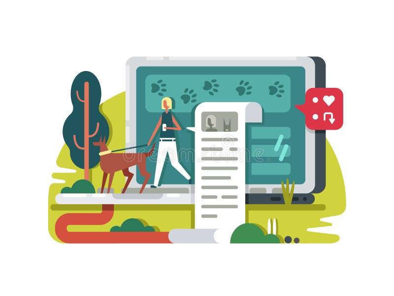 Blogging o życiu w internecie ilustracja wektor
