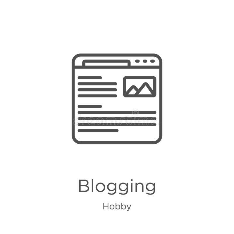 blogging pictogramvector van hobbyinzameling Dunne het pictogram vectorillustratie van het lijn blogging overzicht Overzicht, dun vector illustratie
