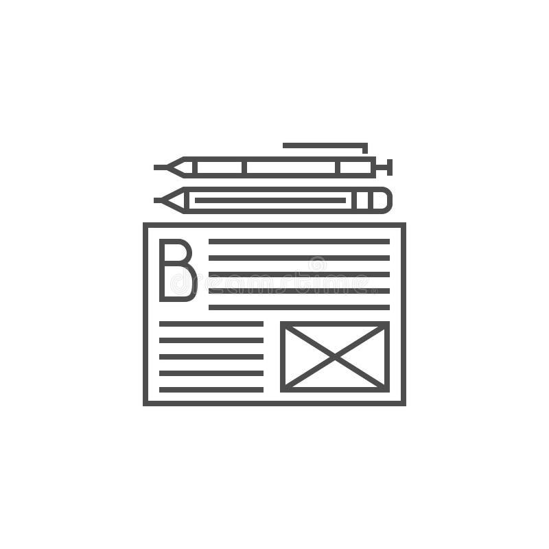 Blogging Services Icon vector illustration