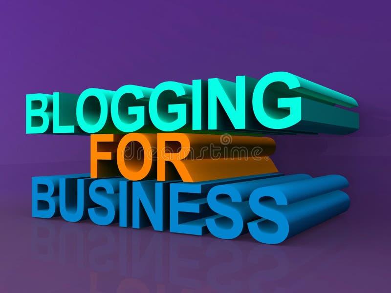 Blogging voor zaken royalty-vrije illustratie