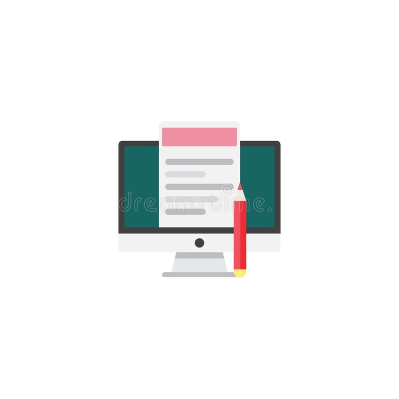 Blogging and writing for website, email. Vector illustration, fl vector illustration
