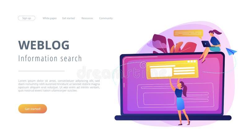 Bloging概念着陆页 向量例证