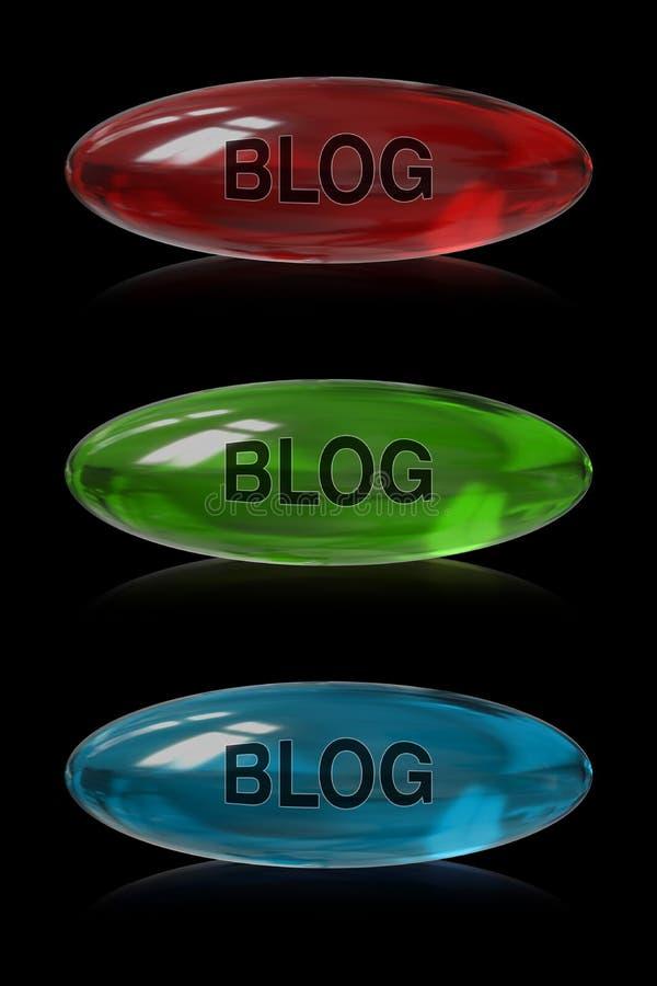 Blogknoop stock illustratie