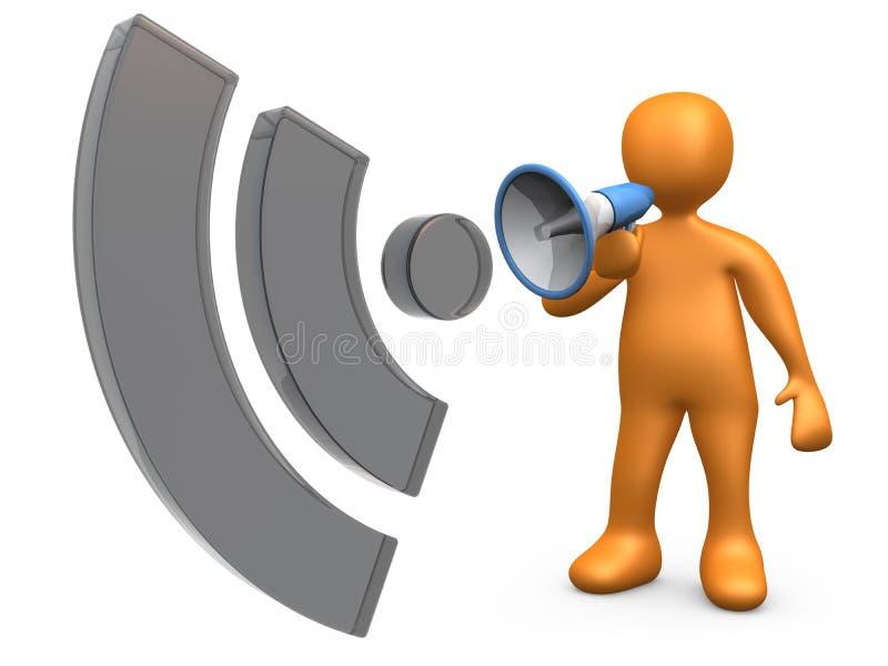 blogkommunikation stock illustrationer