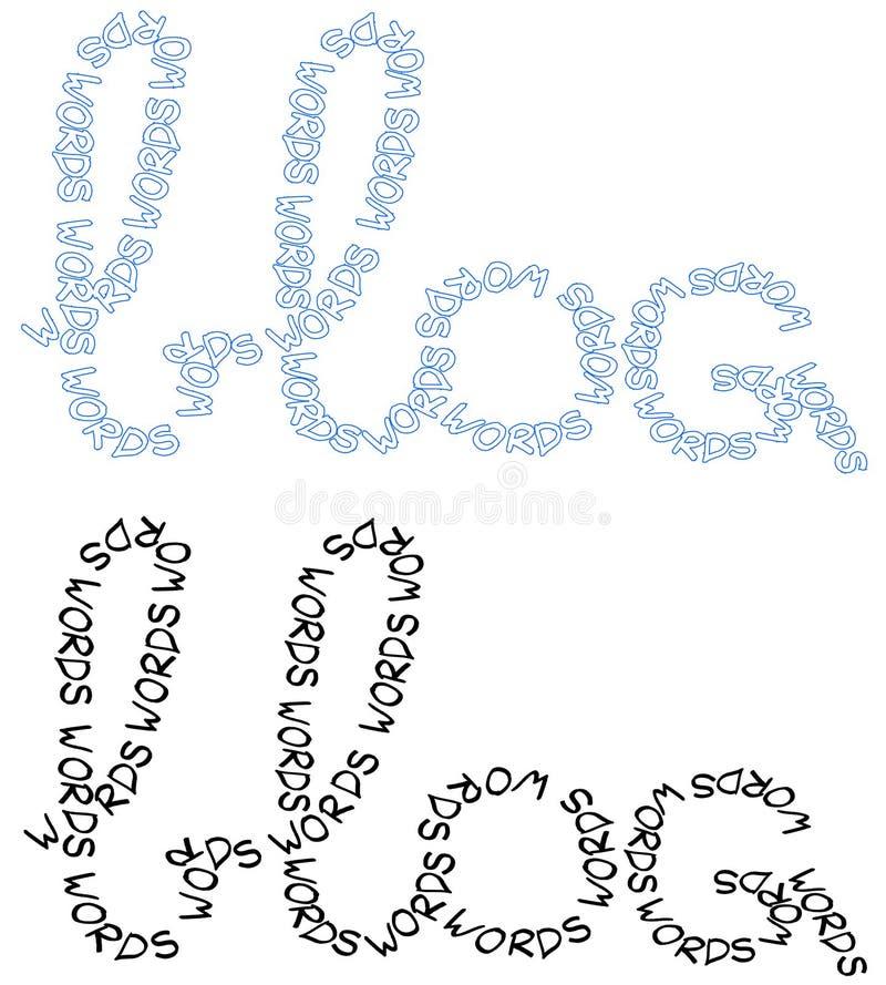 bloglogoer royaltyfri illustrationer