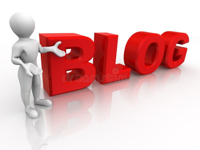blogmantext vektor illustrationer