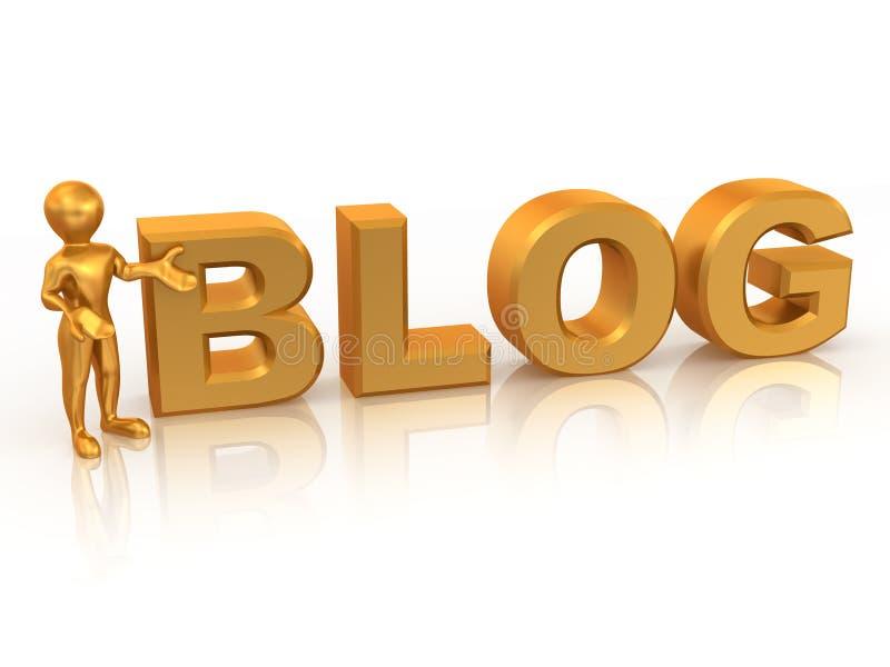 blogmantext stock illustrationer