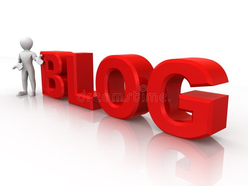 blogmantext royaltyfri illustrationer