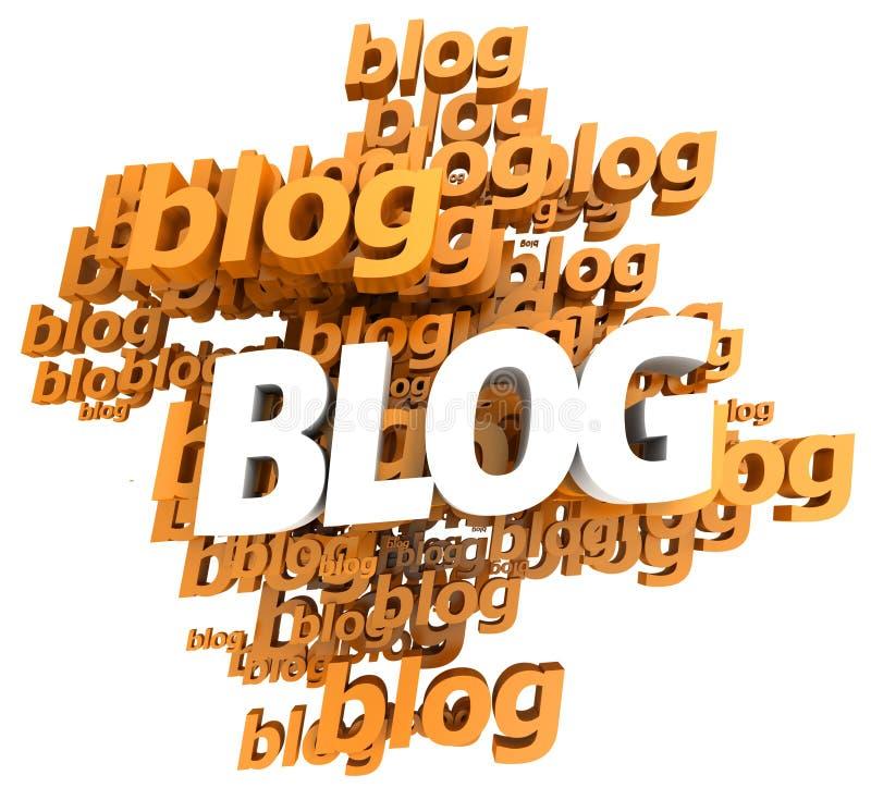 blogorange stock illustrationer