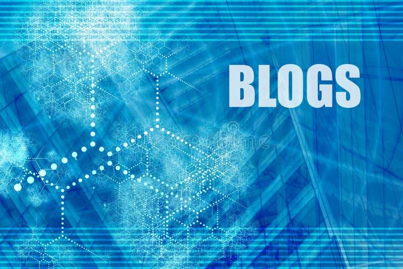 Blogs stock illustration