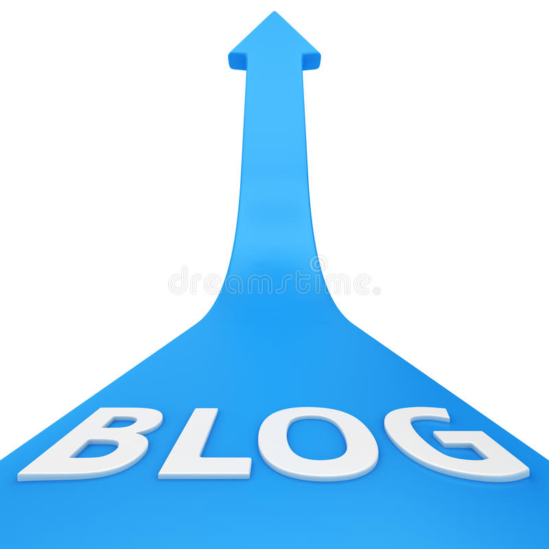 Blogsucces royalty-vrije illustratie
