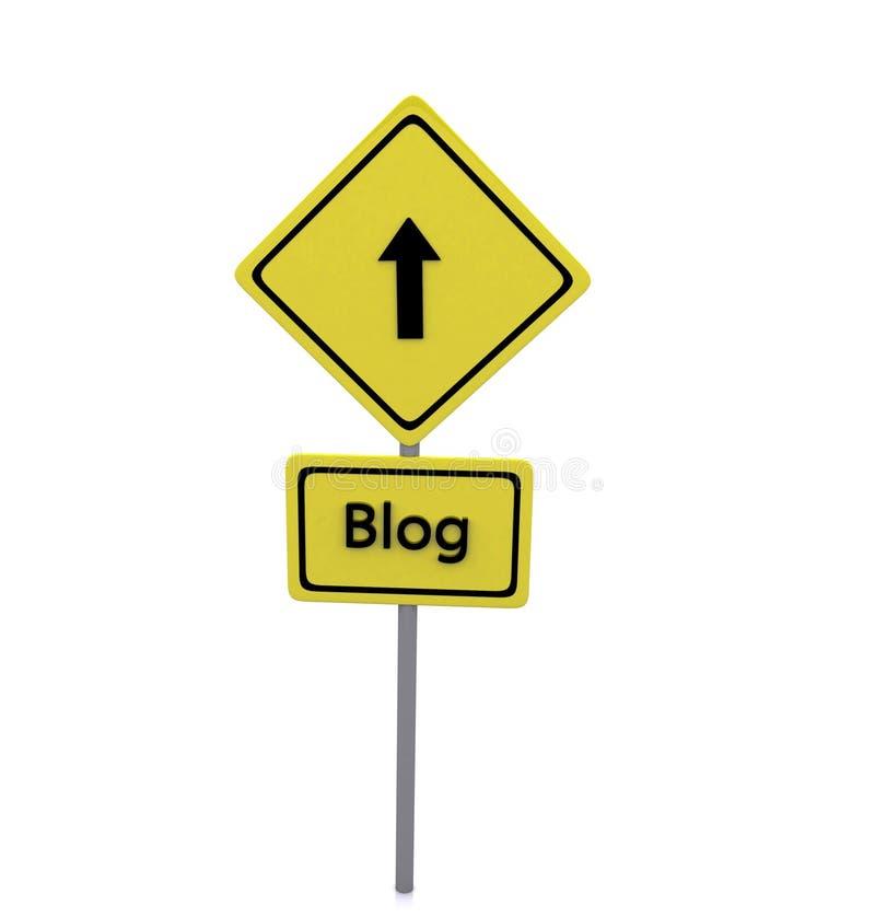 Blogu Drogi znak ilustracja wektor