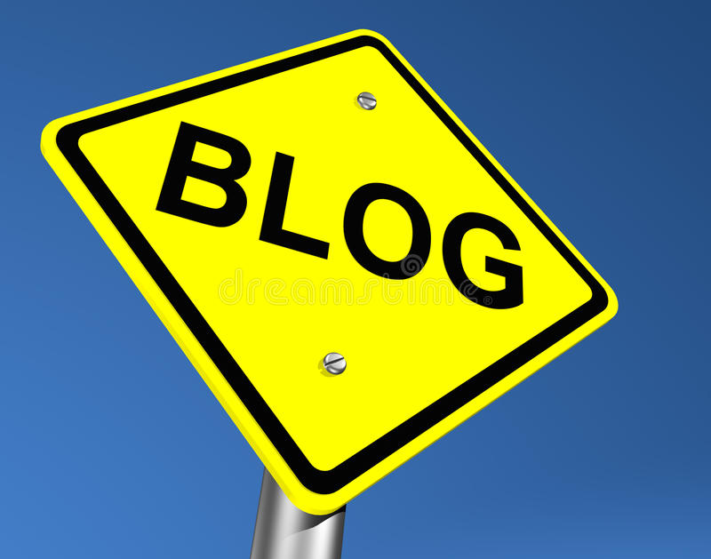 blogu drogowego znaka kolor żółty ilustracja wektor