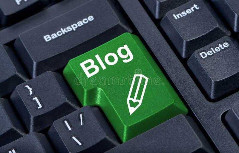 blogu guzika komputeru zieleń ilustracja wektor