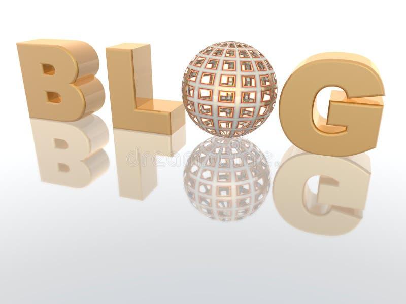 Blogue ilustração stock