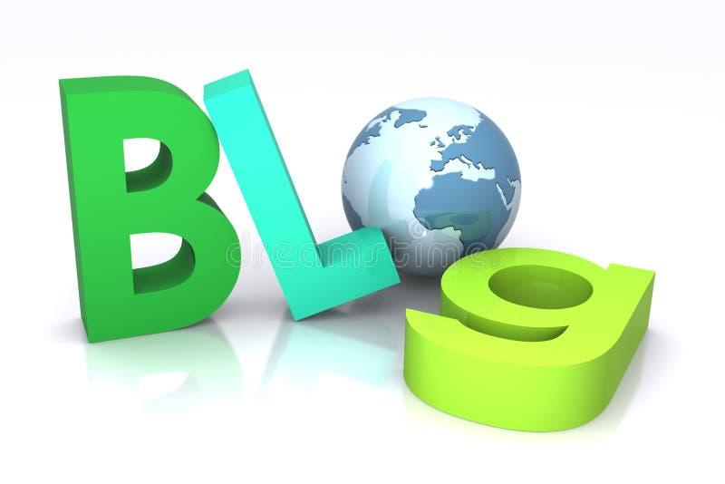 Blogue ilustração do vetor