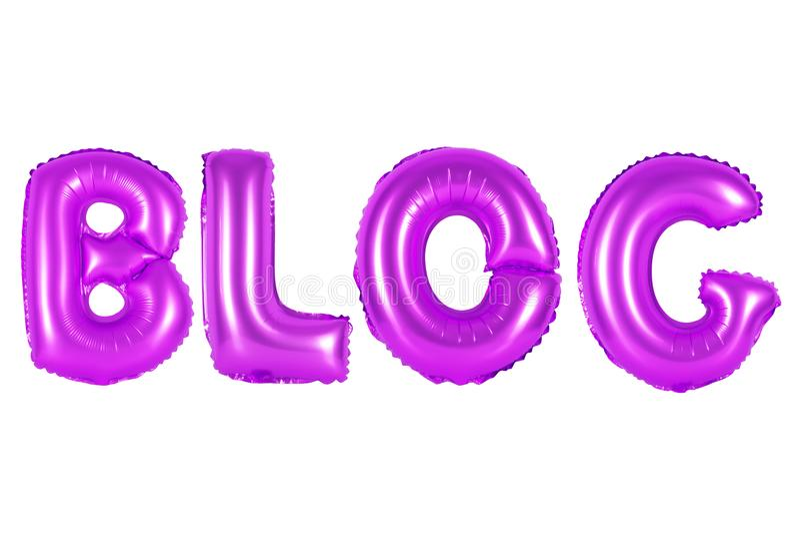 Blogue, cor roxa fotografia de stock