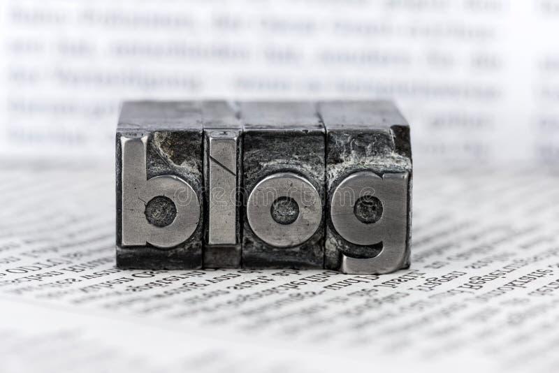 Blogue em letras da ligação fotos de stock