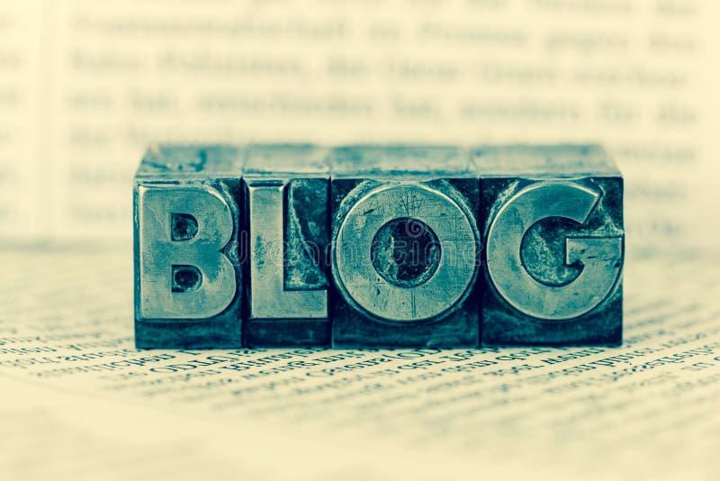 Blogue em letras da ligação fotografia de stock