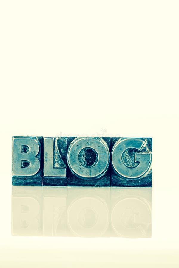Blogue em letras da ligação foto de stock royalty free