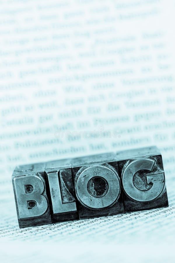 Blogue em letras da ligação fotos de stock royalty free
