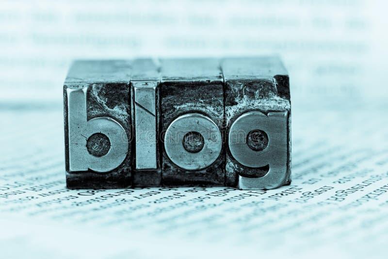 Blogue em letras da ligação imagens de stock royalty free