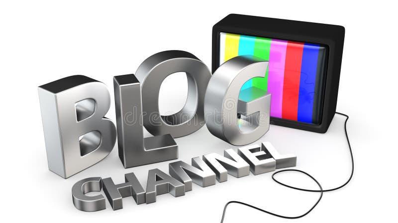 Bloguitzending vector illustratie