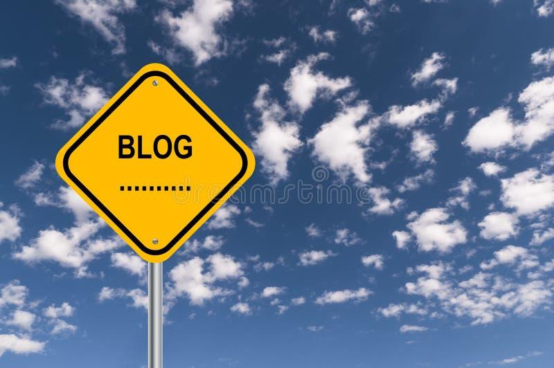 BlogVerkehrsschild vektor abbildung