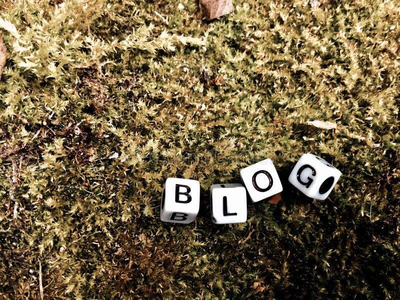 Blogweißbuchstaben lizenzfreie stockbilder