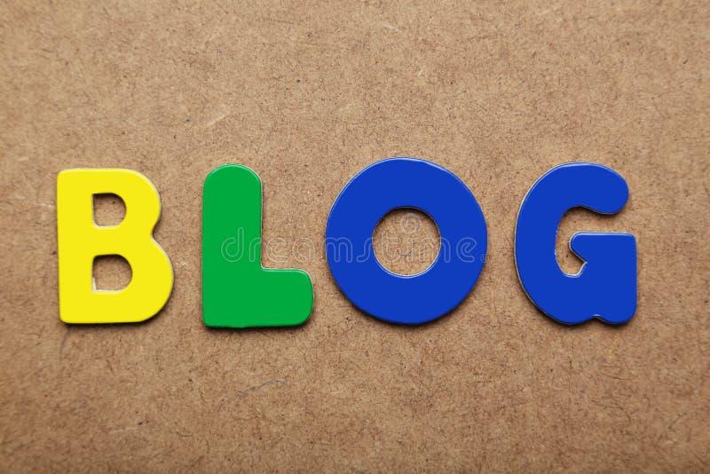 Blogwoord stock afbeelding