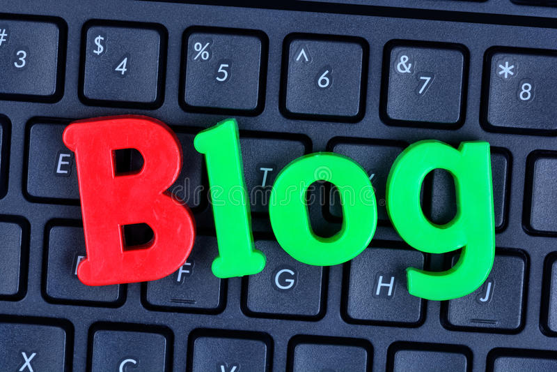 Blogwoord op computertoetsenbord royalty-vrije stock foto's