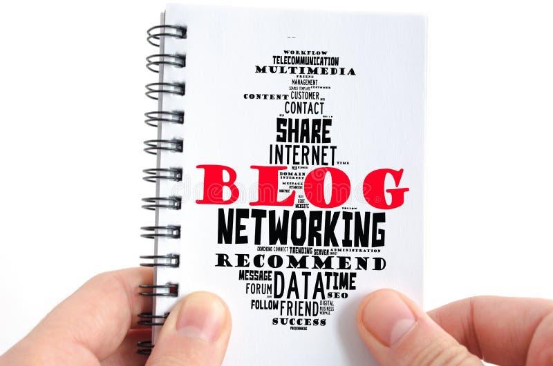 Blogwort-Wolkencollage lizenzfreies stockfoto