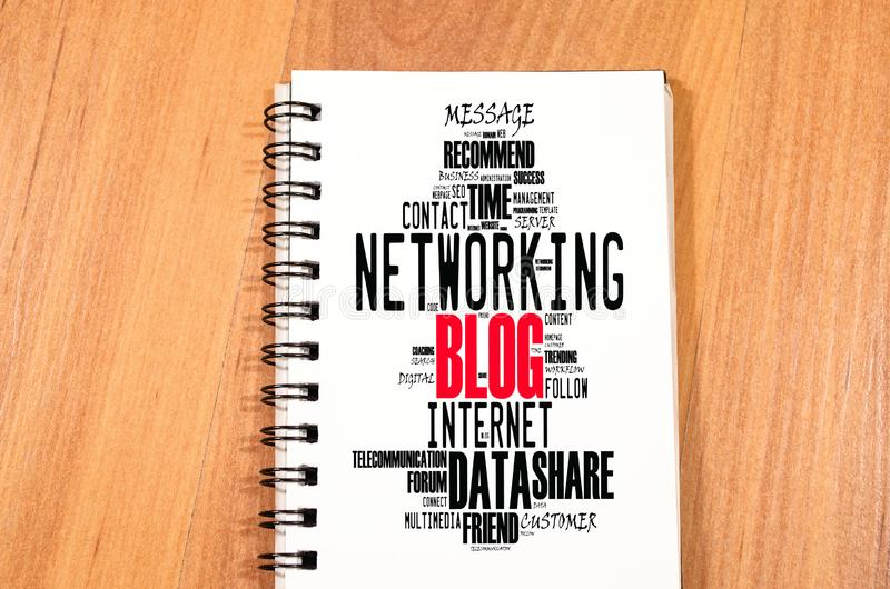 Blogwort-Wolkencollage lizenzfreies stockbild