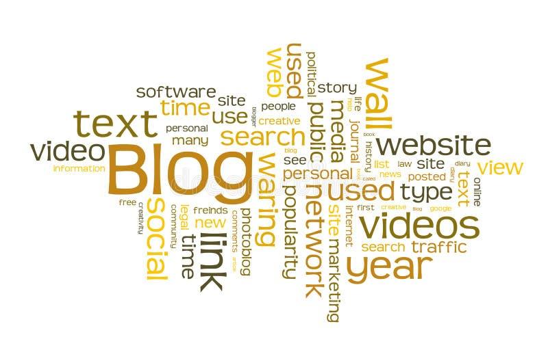 Blogwortwolke Lizenzfreie Stockfotografie