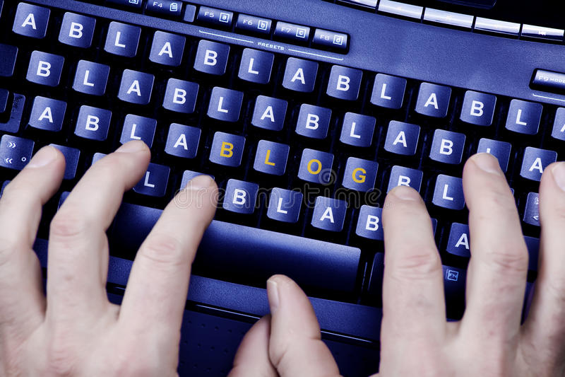 blogwriting arkivfoton