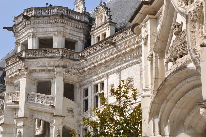 blois城堡 免版税库存照片
