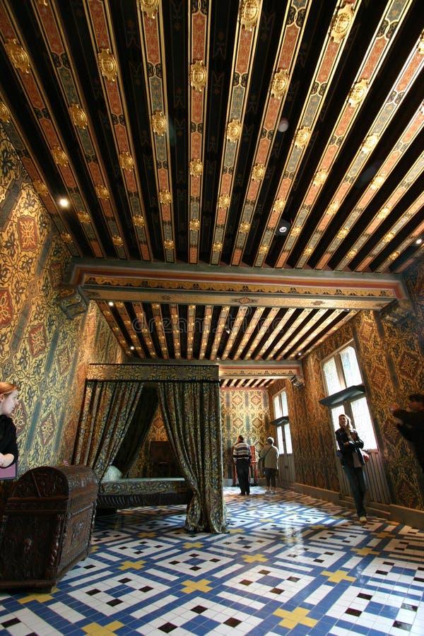 Blois chateau i Frankrike royaltyfri fotografi
