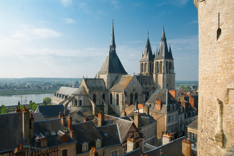 Blois city royalty free stock photos