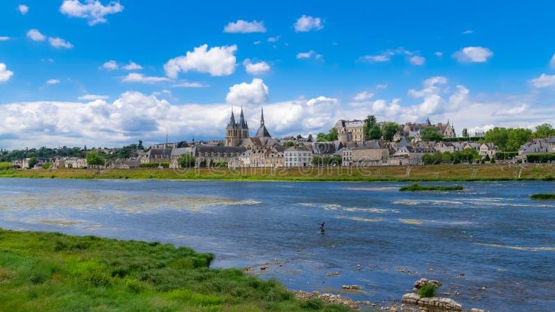 Blois em França, panorama imagem de stock