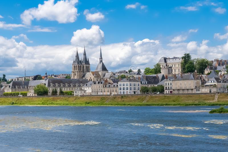 Blois in France, panorama of the city stock images