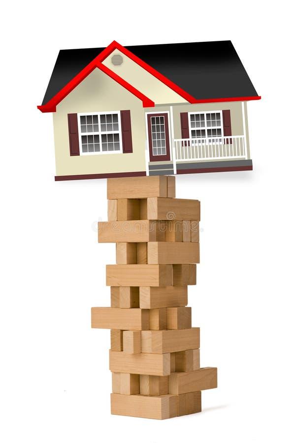 bloków domu wierza drewno obrazy stock