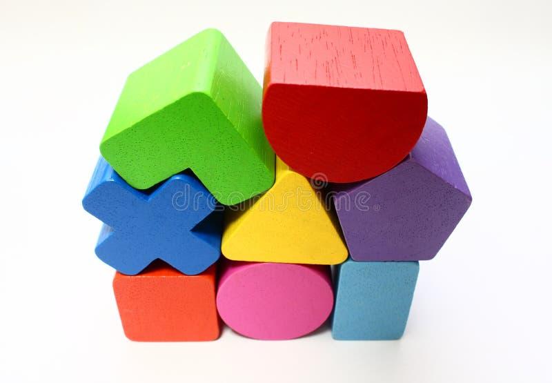 bloków kształta brakarki stert zabawka obrazy stock