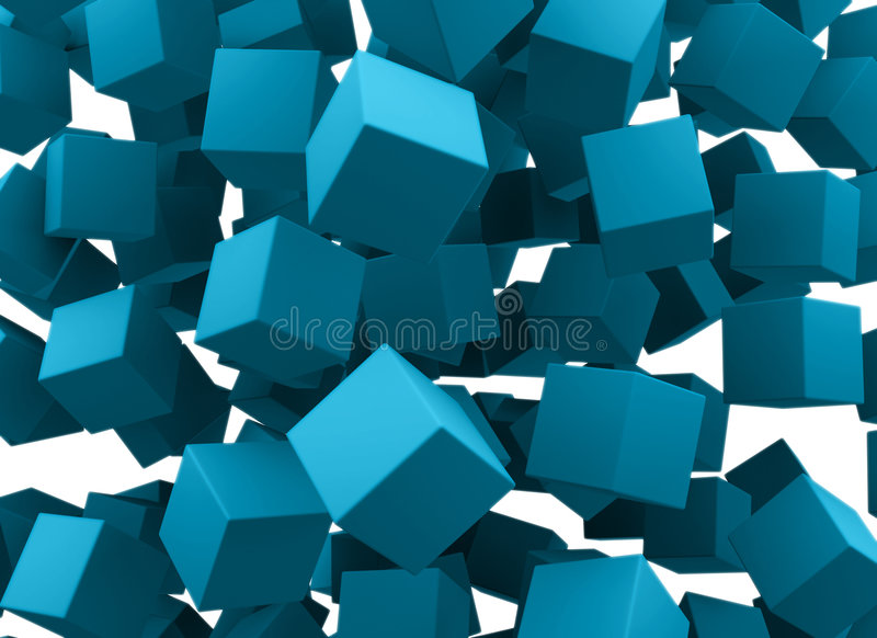 bloków spadać ilustracja wektor