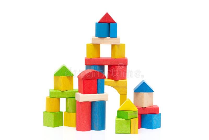 bloków target1_1_ drewniany fotografia stock